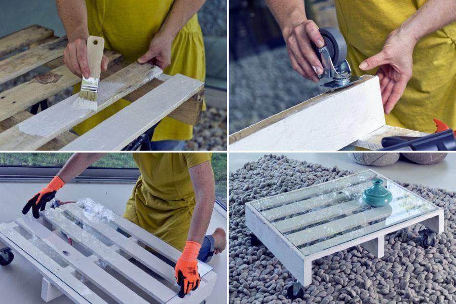 bricoler une table basse avec une palette