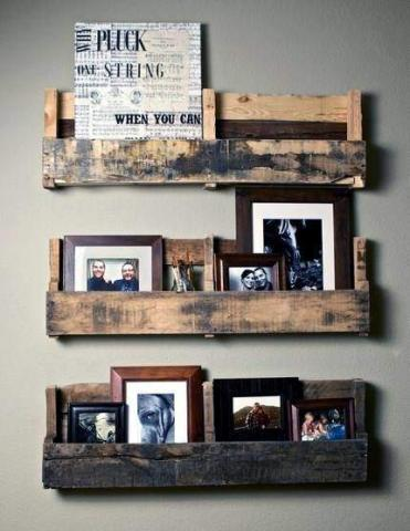 Une idée de porte photo, aspect brut