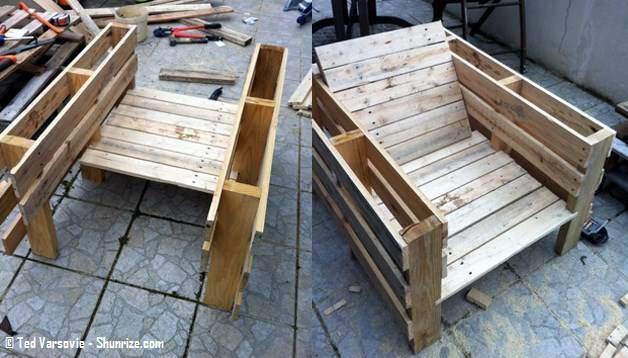 Tuto meuble jardin palette 3 for Meuble jardin