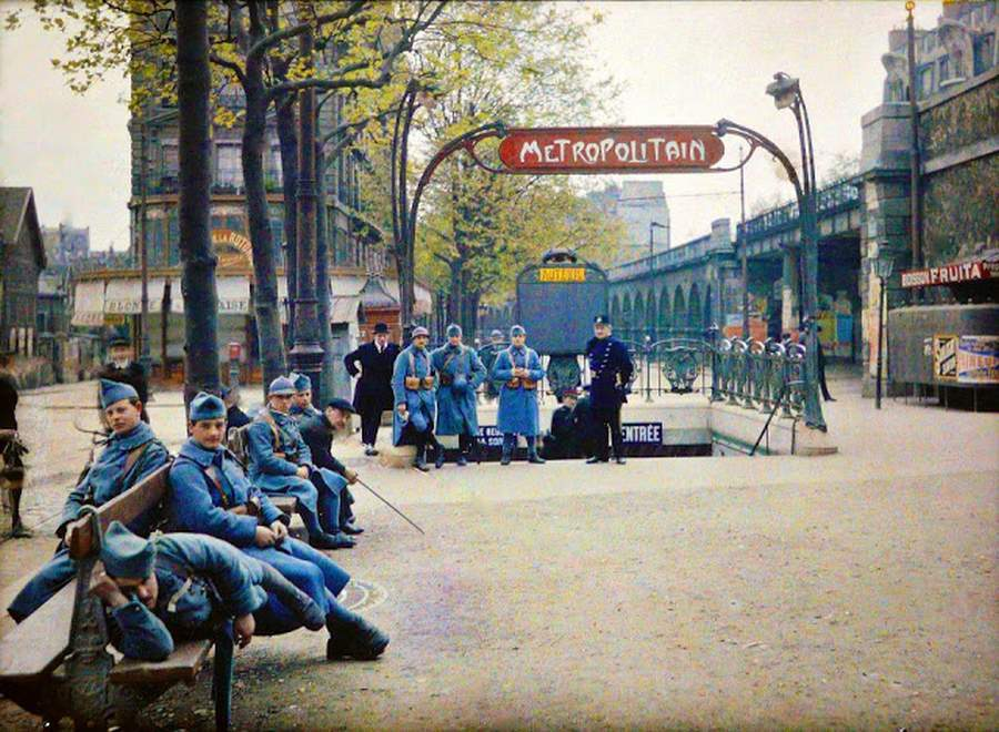 photos de Paris en couleur de 1914