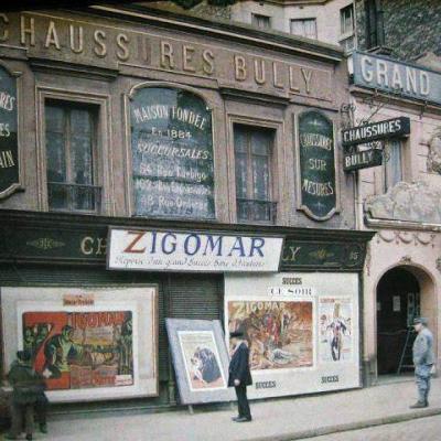 photos de Paris en couleur de 1914