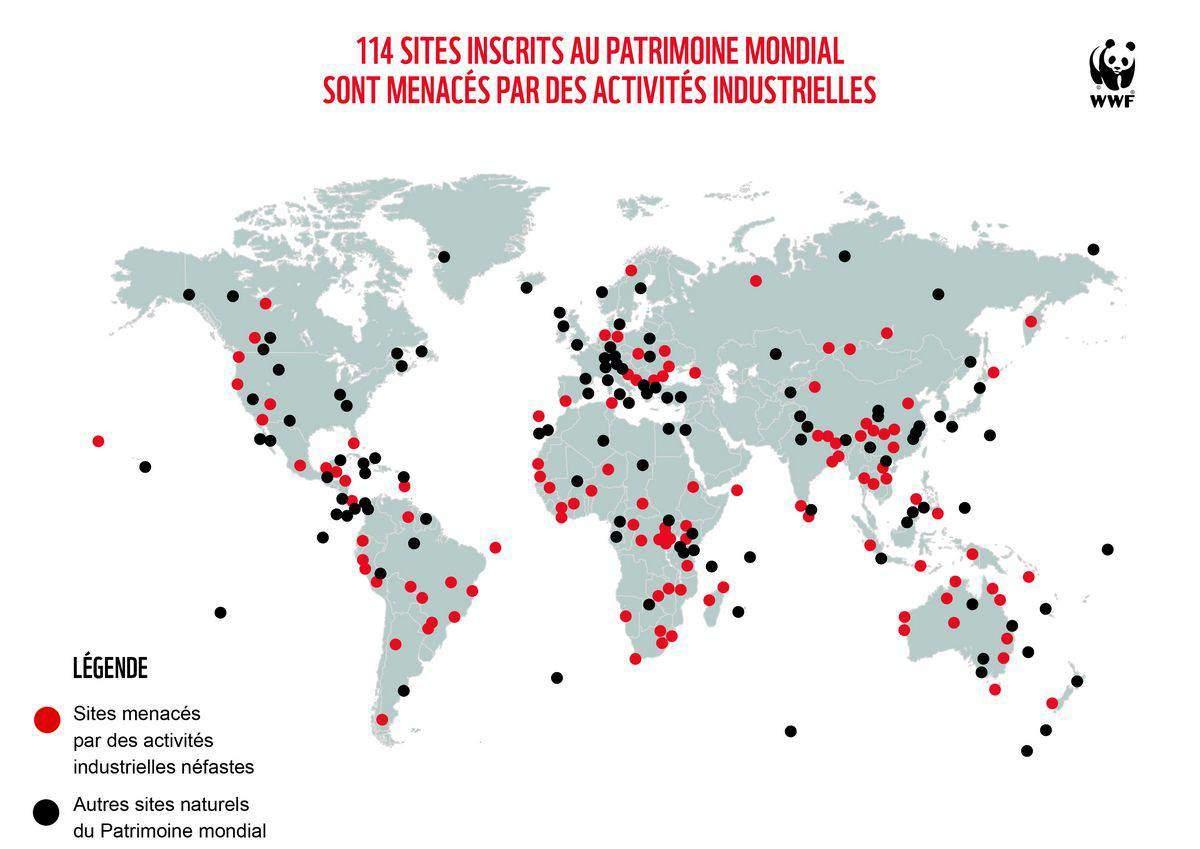 carte sites menacés