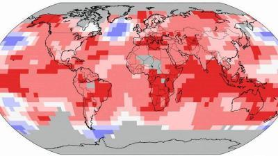 Des températures inhabituellement élevées ont été relevées un peu partout sur la planète de janvier à avril 2016.