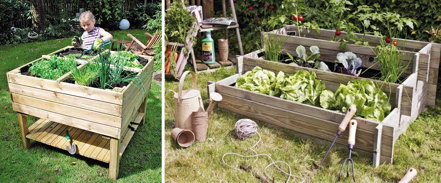 Fabriquer un potager sur lev et cultiver hors sol for Bac jardinage sureleve