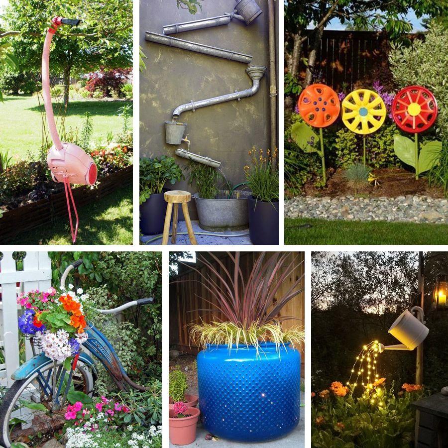 D coration de jardin en objets de r cup 39 des id es - Decoration de jardin a fabriquer ...