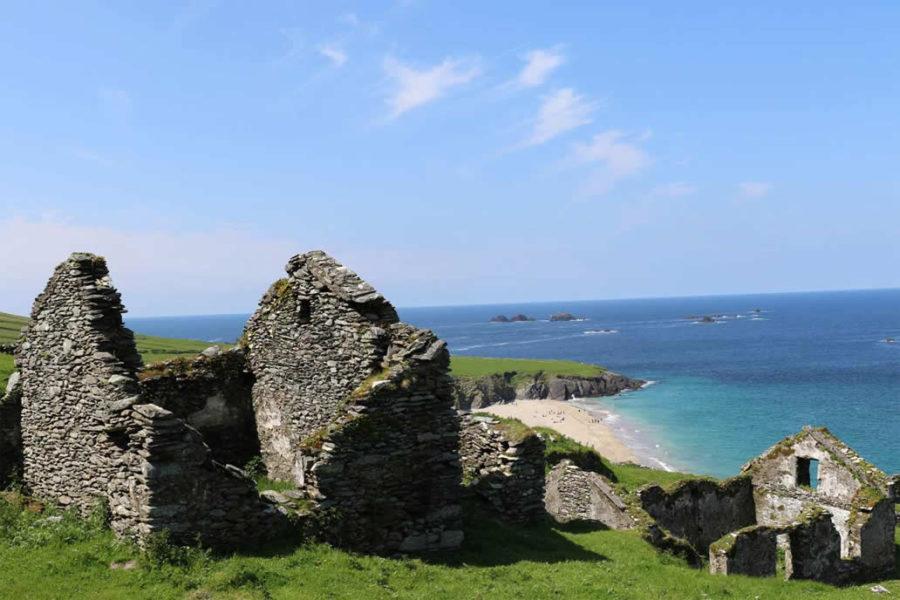 Des vues panoramiques grandioses partout sur l'île de Blasket.